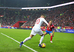 November 15, 2018 - Gdansk, Pomorze, Poland - Piotr Zielinski (20) Borek Dockal (9) during the international friendly soccer match between Poland and Czech Republic at Energa Stadium in Gdansk, Poland on 15 November 2018  (Credit Image: © Mateusz Wlodarczyk/NurPhoto via ZUMA Press)