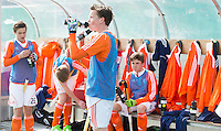 ROTTERDAM -  Dug Out   Practice Match  Hockey : Netherlands Boys U16  v England U16 . COPYRIGHT KOEN SUYK
