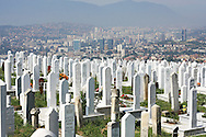 Sarajevo cemetery.<br />