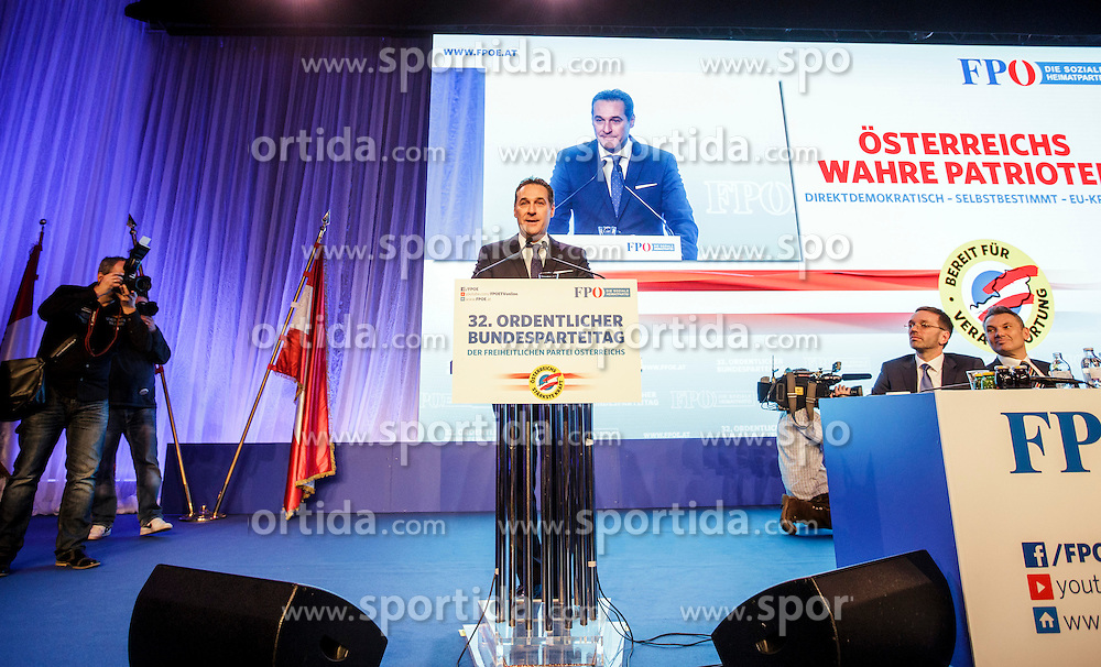 04.03.2017, Messe, Klagenfurt, AUT, FPÖ, 32. Ordentlicher Bundesparteitag, im Bild Bundesparteiobmann Heinz Christian Strache // at the 32nd Ordinary Party Convention of the Freiheitliche Partei Oesterreich (FPÖ) in Klagenfurt, Austria on 2017/03/04. EXPA Pictures © 2017, PhotoCredit: EXPA/ Wolgang Jannach
