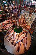 A vendor sells fish at the sprawling Sonargaon market in Sonargaon, outside Dhaka, Bangladesh.