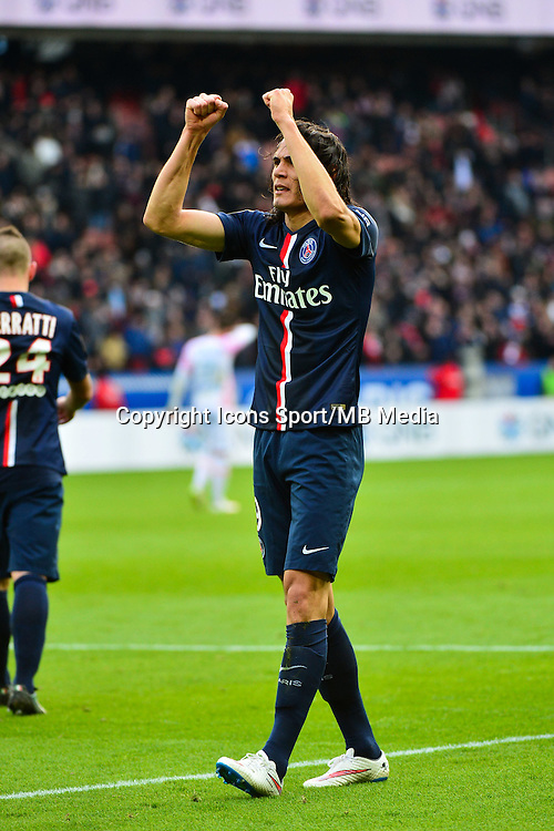 Joie PSG - Edinson CAVANI - 18.01.2015 - Paris Saint Germain / Evian Thonon - 21eme journee de Ligue 1<br />Photo : Dave Winter / Icon Sport