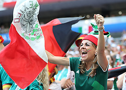 MOSCOW, June 17, 2018  A fans of Mexico cheers prior to a group F match between Germany and Mexico at the 2018 FIFA World Cup in Moscow, Russia, June 17, 2018. (Credit Image: © Cao Can/Xinhua via ZUMA Wire)