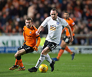 30th November 2018, Tannadice Park, Dundee, Scotland; Scottish Championship football, Dundee United versus Ayr United; Michael Moffat of Ayr United and Paul McMullan of Dundee United