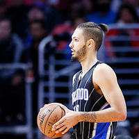 03 December 2014: Orlando Magic guard Evan Fournier (10) is seen during the Los Angeles Clippers 114-86 victory over the Orlando Magic, at the Staples Center, Los Angeles, California, USA.