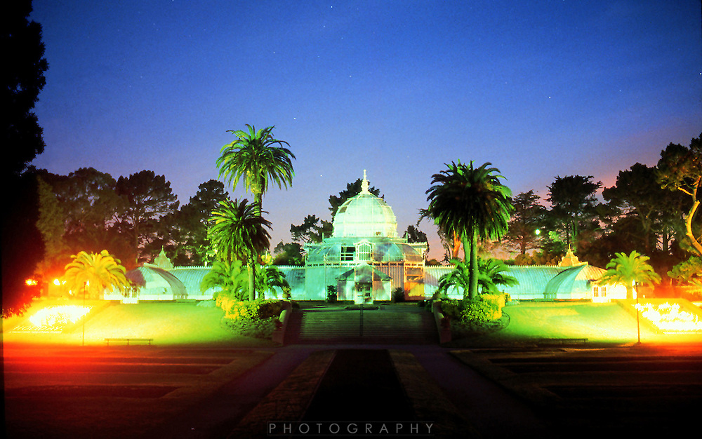 The conservatory of flowers in San Francisco's Golden Gate Park<br /> <br /> photo by Jason Doiy