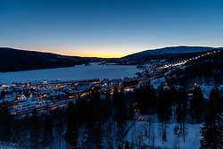 THEMENBILD - Sonnenuntergang über dem Lake Aare, aufgenommen am Freitag, 16. März 2018. Die alpinen Ski- Weltmeisterschaften 2019 finden von 05. bis 17. Februar in Aare /Schweden statt // sunset over Lake Aare, pictured on Tuesday, March 13, 2018. The Alpine Skiing World Championships 2019 will take place from 05 to 17 February in Aare. Sweden on 2017/03/16. EXPA Pictures © 2018, PhotoCredit: EXPA/ Johann Groder