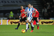 Huddersfield Town striker Nahki Wells (21) during the EFL Sky Bet Championship match between Huddersfield Town and Brighton and Hove Albion at the John Smiths Stadium, Huddersfield, England on 2 February 2017.
