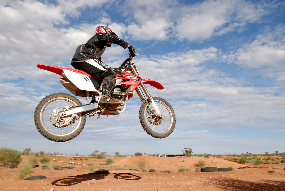 Toby Grimm Motocross track Roxby Downs South Australia 18/02/07.Contact for Toby (Sue & Justin Grimm.2B Alford Court.Roxby Downs .0439 311 094...