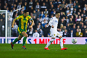 Pablo Hernandez of Leeds United (19) and Gareth Barry of West Bromwich Albion (18) in action during the EFL Sky Bet Championship match between Leeds United and West Bromwich Albion at Elland Road, Leeds, England on 1 March 2019.