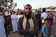 Zintan man attend a demonstration in Zintan city center.