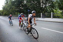 De Marchi Mattia of A.S.D Cycling team Friuli and Rogina Radoslav of Adria Mobil during cycling race 48th Grand Prix of Kranj 2016 / Memorial of Filip Majcen, on July 31, 2016 in Kranj centre, Slovenia.  Photo by Ziga Zupan / Sportida