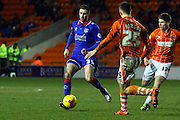 Oldham Athletic Defender, Danny Lafferty during the Sky Bet League 1 match between Blackpool and Oldham Athletic at Bloomfield Road, Blackpool, England on 16 February 2016. Photo by Pete Burns.