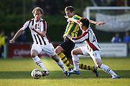 NEMELAER - WILLEM II<br /> Vriendschappelijk duel na afloop van het seizoen<br /> Niek Vossenbelt en Jordy Vleugels<br /> Foto : Geert van Erven