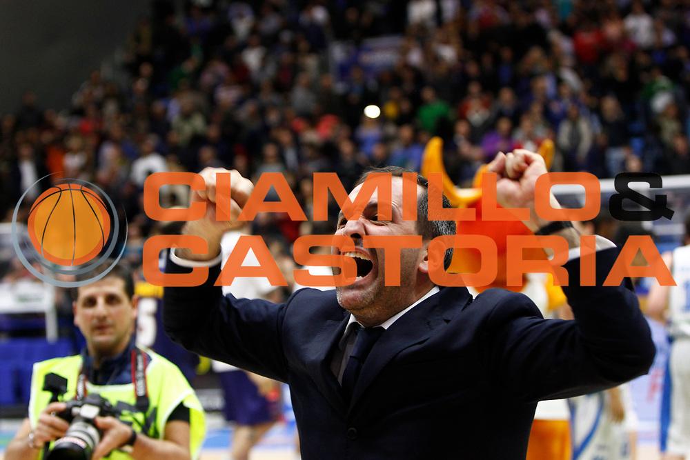 DESCRIZIONE : Capo dOrlando Lega A 2015-16 Betaland Capo d Orlando Manital Auxilium Cus Torino<br /> GIOCATORE : Gennaro Di Carlo<br /> CATEGORIA : Head Coach Esultanza<br /> SQUADRA : Orlandina Basket<br /> EVENTO : Campionato Lega A Beko 2015-2016 <br /> GARA : Betaland Capo d Orlando Manital Auxilium Cus Torino<br /> DATA : 13/03/2016<br /> SPORT : Pallacanestro <br /> AUTORE : Agenzia Ciamillo-Castoria/G.Pappalardo<br /> Galleria : Lega Basket A 2015-2016<br /> Fotonotizia : Capo dOrlando Lega A 2015-16 Betaland Capo d Orlando Manital Auxilium Cus Torino