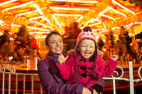 23/11/2012 . Lily Mae and her mother Judith Sibley at the Galway Continental Christmas Market which had its lights turned on on by the child behind the no 1 in iTunes single tiny dancer and hopefully number 1 for Christmas. Picture:Andrew Downes.
