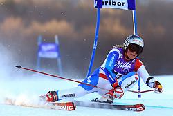 Lara Gut of Switzerland skiing in first run of Maribor women giant slalom race of Audi FIS Ski World Cup 2008-09, in Maribor, Slovenia, on January 10, 2009. (Photo by Vid Ponikvar / Sportida)