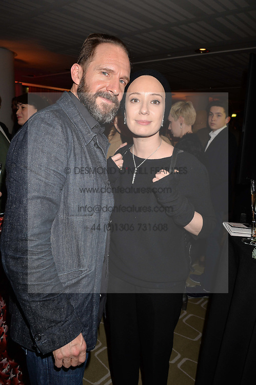 Ralph Fiennes and Chulpan Khamatova at the Gift of Life held at The Royal Festival Hall on South Bank, London England. 14 January 2017.