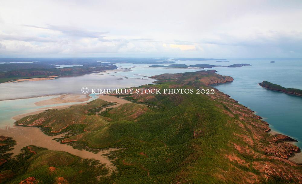 Looking across Turtle Reef in Talbot Bay