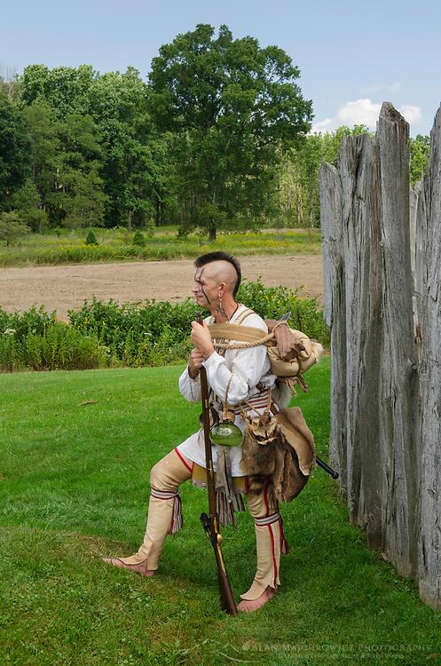 Native American reenactment. Fort Necessity National Battlefield Pennsylvannia