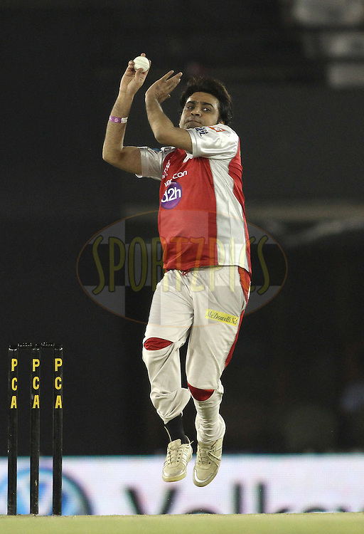 Bhiren of the Kings XI Punjab sends down a delivery during the Team Owner's match between Kings XI Punjab and IPL team held after match 33 of the the Indian Premier League (IPL) 2012  between The Kings X1 Punjab and The Mumbai Indians held at the Punjab Cricket Association Stadium, Mohali on the 25th April 2012..Photo by Shaun Roy/IPL/SPORTZPICS