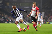 West Bromwich Albion striker (on loan from Liverpool) Daniel Sturridge (15) sprints forward with the ball during the Premier League match between West Bromwich Albion and Southampton at The Hawthorns, West Bromwich, England on 3 February 2018. Picture by Dennis Goodwin.