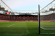 The Emirates pitch during the Champions League round of 16, game 2 match between Arsenal and Bayern Munich at the Emirates Stadium, London, England on 7 March 2017. Photo by Matthew Redman.