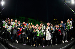 Veselin Vujovic, head coach with his players during reception of Slovenian National Handball Men team after they placed third at IHF World Handball Championship France 2017, on January 30, 2017 in Mestni trg, Ljubljana centre, Slovenia. Photo by Vid Ponikvar / Sportida