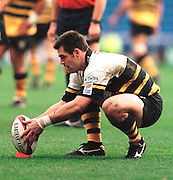 Zurich Premiership Rugby - London Irish v Wasps, Kenny Logan - lines up the ball for a penalty, during the game at the Madejski Stadium, Reading, Berks, Great Britain. [Mandatory Credit: Peter Spurrier; Intersport Images].