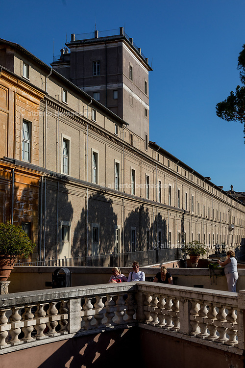 Rome, Vatican Museums, the yard at the entrance of the Pinacoteca