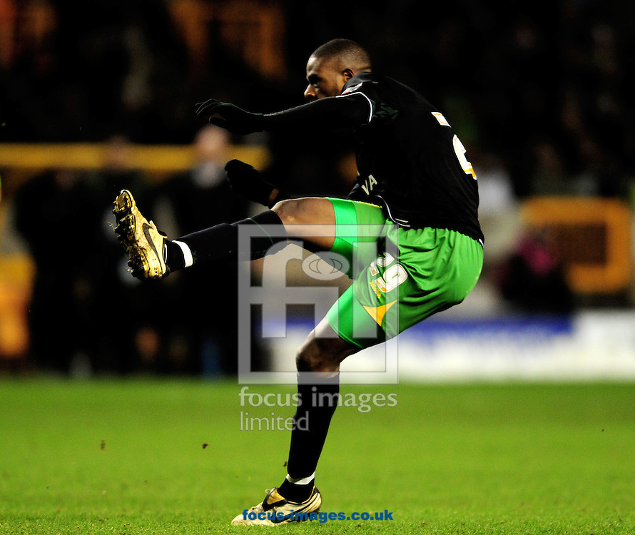 Wolverhampton - Tuesday February 3rd, 2009: Carl Court of Norwich City   scoring his sides second goal during the Coca Cola Championship match at Molineaux, Wolverhampton. (Pic by Daniel Hambury/Focus Images)
