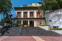 Guayaquil, Ecuador--April 15, 2018.  The Mansion del Rio boutique hotel, located near the Guayaquil promenade. Editorial use only.