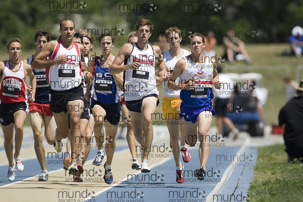 13 July 2007 (Windsor--Canada) -- The 2007 Canadian National Track and Field Championships...The pack competing in the 1500m heats.