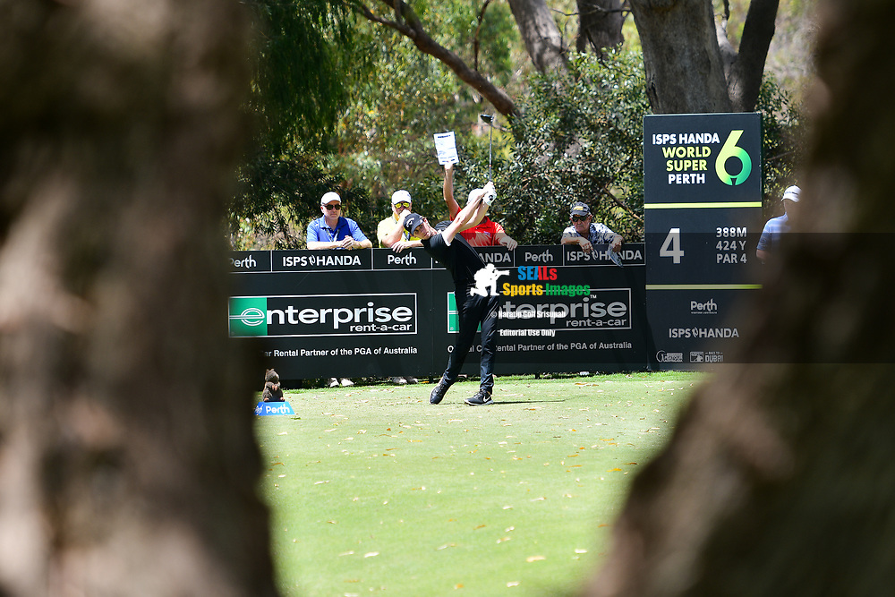 PERTH, AUSTRALIA - FEBRUARY 16: Thomas Pieters (BEL) on the 4th tee during the 3rd round of the ISPS Handa World Super 6, Lake Karrinyup Country Club, Perth, Western Australia, on February 16, 2019. <br /> .<br /> .<br /> .<br /> (Photo by: Naratip Golf Srisupab/SEALs Sports Images)<br /> .<br /> Any image use must include a mandatory credit line adjacent to the content which should read: Naratip Golf Srisupab/SEALs Sports Images