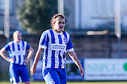 Megan Fox during the FA Women's Sussex Challenge Cup semi-final match between Brighton Ladies and Hassocks Ladies FC at Culver Road, Lancing, United Kingdom on 15 February 2015. Photo by Geoff Penn.