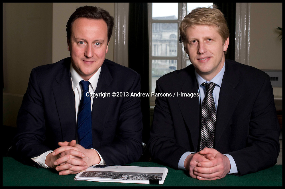 Leader of the Conservative Party David Cameron with Jo Johnson in his office in Norman Shaw South, picture taken, Monday January 18, 2010. Picture Filed<br /> Thursday, 20th June 2013<br /> Picture by Andrew Parsons / i-Images