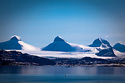 Tre Kroner - Three Crowns - Three Kings range of mountains, Kongsfjord, Ny Alesund, Svalbard.