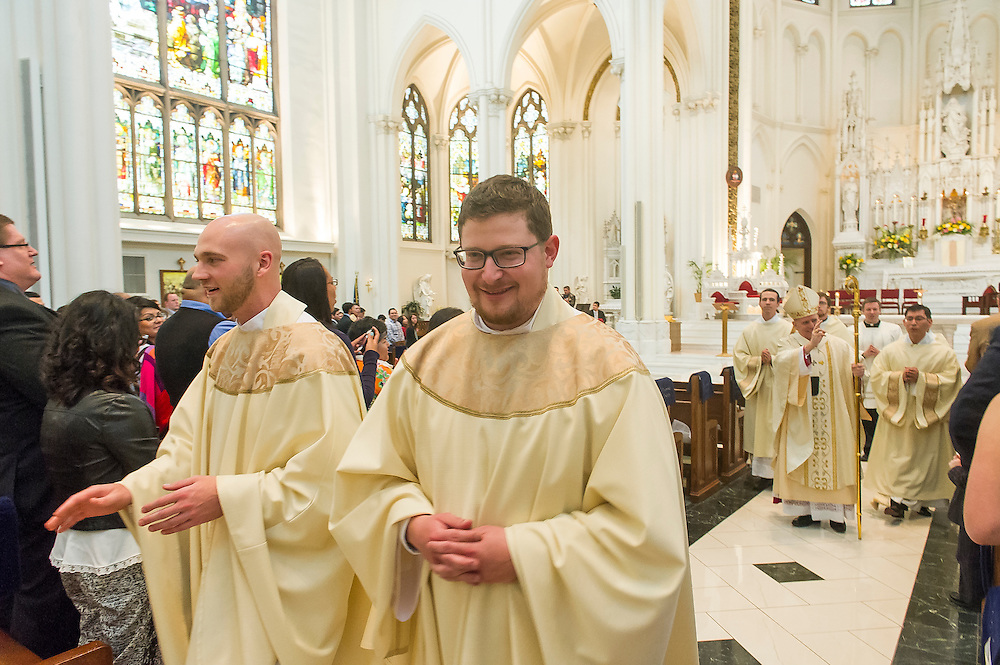 DENVER, CO - MAY 17: Ordination of Priests in the Archdiocese of Denver at the Cathedral Basilica of the Immaculate Conception on May 17, 2014 in Denver, Colorado. (Photo by Daniel Petty/Denver Catholic Register)
