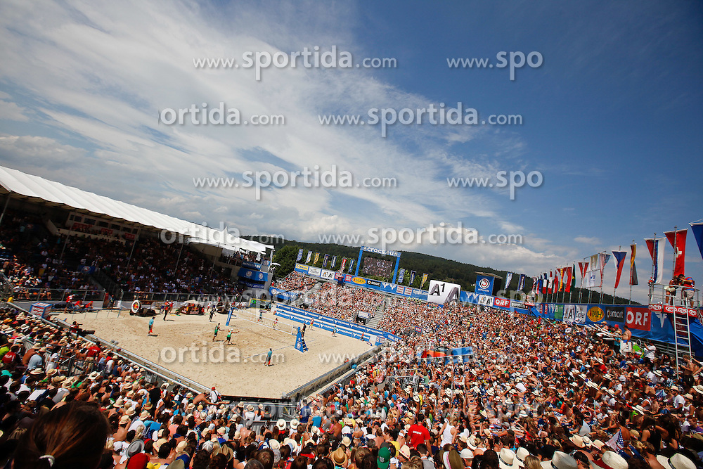 07.08.2011, Klagenfurt, Strandbad, AUT, Beachvolleyball World Tour Grand Slam 2011, im Bild Spiel um Platz 3, Brazil / USA. EXPA Pictures © 2011, PhotoCredit: EXPA/ Gert Steinthaler
