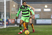Forest Green Rovers Dan Wishart(17) on the ball during the EFL Sky Bet League 2 match between Forest Green Rovers and Cambridge United at the New Lawn, Forest Green, United Kingdom on 20 January 2018. Photo by Shane Healey.