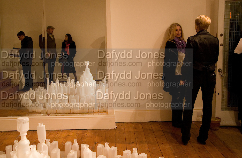 Paul Hedge; Heather Maizels; Pia Getty; Isabella Macpherson, Private view: Atlantis by Gayle Chong Kwan, Hosted by Pia Getty, Isabella Macpherson & Sigrid Wilkinson . 29 Thurloe Place, SW7. London. 11 Nov emebr 2008<br />