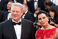 Al Gore and Elizabeth Keadle at The Killing of a Sacred Deer gala screening at the 70th Cannes Film Festival Monday 22nd May 2017, Cannes, France. Photo credit: Doreen Kennedy