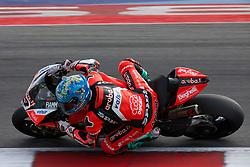 July 8, 2018 - Misano, RN, Italy - Marco Melandri of Aruba.it Racing - Ducati during race 2 of the Motul FIM Superbike Championship, Riviera di Rimini Round, at Misano World Circuit ''Marco Simoncelli'', on July 08, 2018 in Misano, Italy  (Credit Image: © Danilo Di Giovanni/NurPhoto via ZUMA Press)