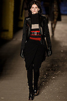 Katlin Aas walks down runway for F2012 Rag & Bone collection in Mercedes Benz fashion week in New York on Feb 10, 2012 NYC