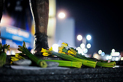 A general view of the tribute left for Emiliano Sala outside the Cardiff City Stadium - Mandatory by-line: Ryan Hiscott/JMP - 22/02/2019 -  FOOTBALL - Cardiff City Stadium - Cardiff, Wales -  Cardiff City v Watford - Premier League