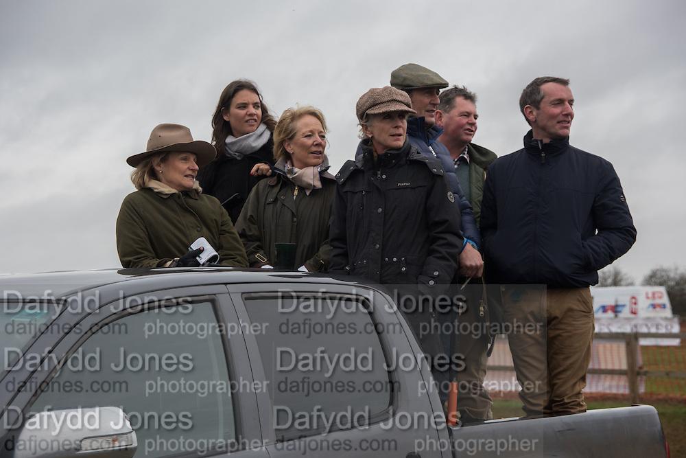 BECKY STEELE; HARRIET MATHIAS; NICOLE MATHIAS; SIMON LAURENCE;  GINNY ELLIOT; DAN GREENWOOD, The Heythrop Hunt Point to Point. Cocklebarrow. 24 January 2016