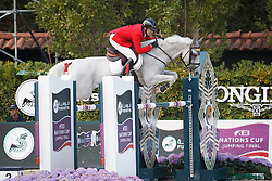 Rodriguez Andres, (VEN), Darlon van Groenhove<br /> Grand Prix Longines Cup of the City Barcelona<br /> Furusiyya FEI Nations Cup Jumping Final - Barcelona 2015<br /> © Dirk Caremans<br /> 27/09/15