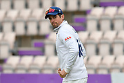 Alastair Cook of Essex during the second day of play in the Specsavers County Champ Div 1 match between Hampshire County Cricket Club and Essex County Cricket Club at the Ageas Bowl, Southampton, United Kingdom on 28 April 2018. Picture by Graham Hunt.