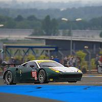 #55, Ferrari 458 Italia, AF Corse, driven by Duncan Cameron, Aaron Scott, Matt Griffin, 24 Heures Du Mans Test Day, 05/06/2016,