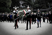 Roma, 24.03.2009, Italy - Anniversary at Fosse Ardeatine Memorial, the site of a Nazi massacre of 335 Italians in 1944, before laying a wreath in Rome.